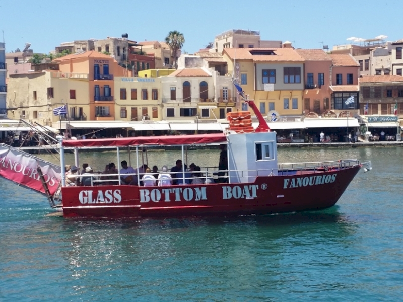 Glass Bottom Boat Trips Chania Harbour