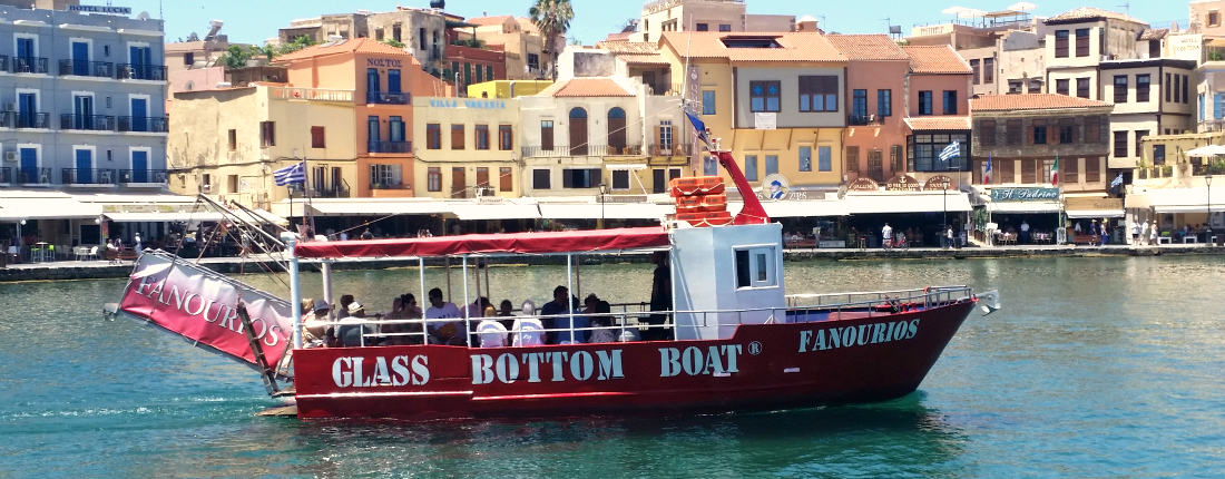 Boat Trip Chania glass bottom boat