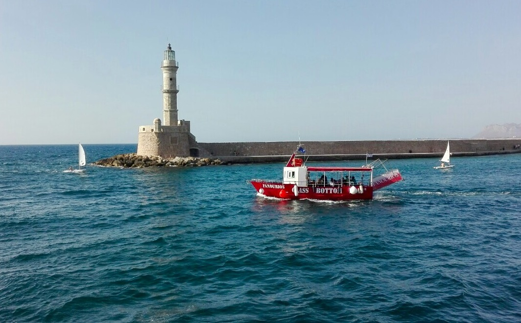 Chania glass bottom boat trip